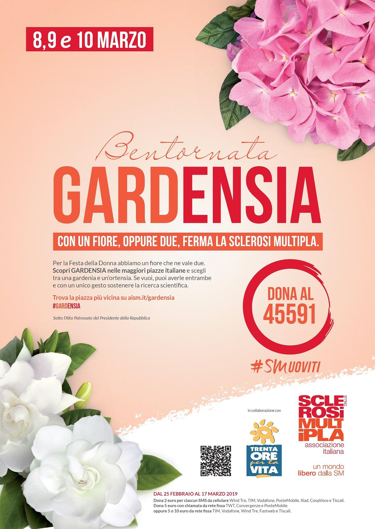 Fiori 10 Euro.Gardensia Aism Associazione Italiana Sclerosi Multipla